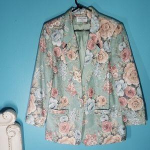 Alfred Dunner petite floral blazer